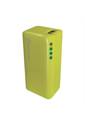 Tunçmatik Mini Charge 2000 mAh Yeşil Taşınabilir Şarj Cihazı - TSK5061