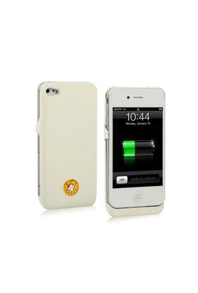 Microsonic iPhone 4S Şarjlı Kılıf Beyaz (1800 mAh)