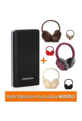 Codegen Powerx 10000 mAh Siyah Taşınabilir Şarj Cihazı L10-S + Muffy Kulaklık Hediyeli