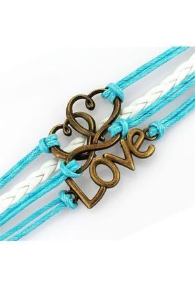 Bayan Lili Deri Kalp, Sonsuz Ve Love Bileklik