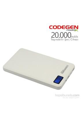 Codegen Powerx 20000 mAh Beyaz Taşınabilir Şarj Cihazı + 4in1 Kablo Hediyeli X20W