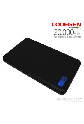 Codegen Powerx 20000 mAh Siyah Taşınabilir Şarj Cihazı + 4in1 Kablo Hediyeli X20B