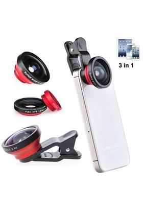 Case 4u 3 in 1 Selfie Telefonu Kamera Lensi (iPhone, Samsung, Nokia, Sony, Huawei, General Mobile, Asus, HTC, LG)