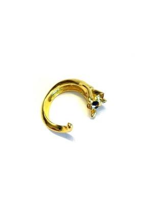 Betico Fashion Altın Kedi Yüzük