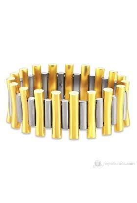Lochers Desenli Çelik Bileklik