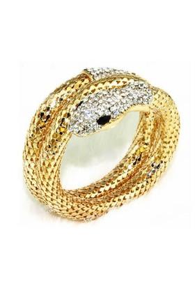 Modakedi Altın Kaplama Kristal Taşlı Kadın Yılan Bileklik