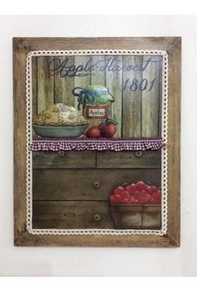 Victorian Rose Boutique Country Fırfırlı Mutfak Pano