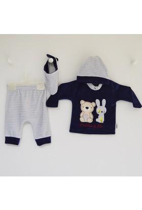 Elci Baby 8055 4'lü Kadife Bebek Takımı