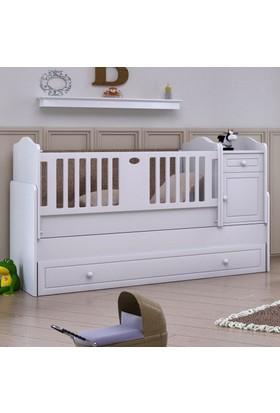 Babi Baby Eko Roza Bebek Odası Büyüyen Beşik 80x180