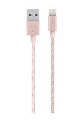 Belkin Premium 1.2m Lightning MFI Lisanslı Şarj Kablosu - Rose Gold