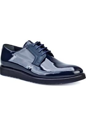 Cabani Bağcıklı Günlük Erkek Ayakkabı Lacivert Rugan Deri