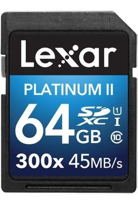 Lexar 64GB 300X Premium II SDXC Hafıza Kartı Class10 U1 45MB/sn (LSD64GBBEU300)