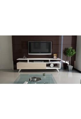 Abree Tv Ünitesi 120 Cm Beyaz-Sonomo