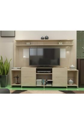 Akadia Tv Ünitesi 180 cm Beyaz-Sonomo