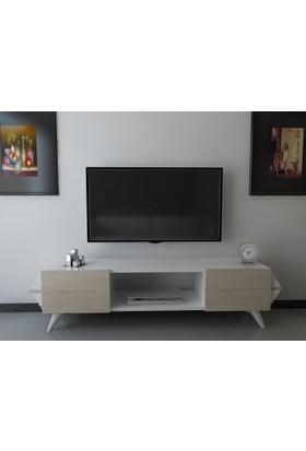 Givayo Kayra Tv Ünitesi 120cm Sonomo-Beyaz