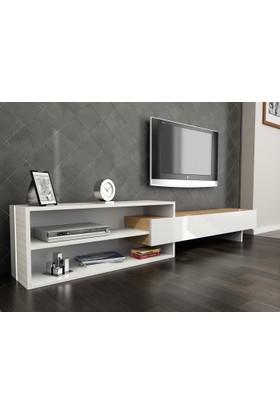 Givayo Naz Tv Ünitesi 190 cm Beyaz-Teak