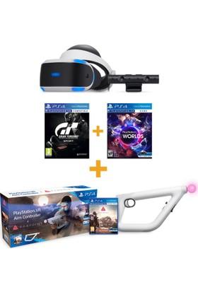 Sony Playstation Vr Sanal Gerçeklik Gözlüğü + Ps4 Kamera + Worlds Vr + Gran Turismo Vr + Farpoint Set