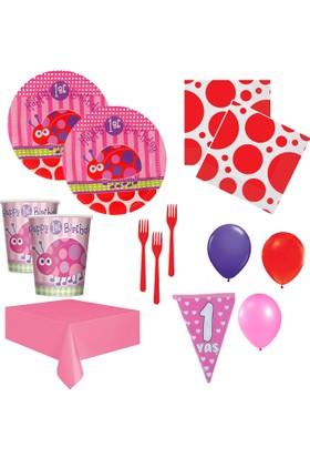 Roll Up Party Var 1 Yaş Kız Doğum Günü Seti 20 Kişilik