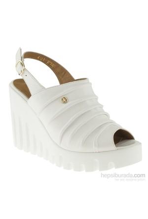 La Pinta 270 491-202Z Beyaz Sandalet