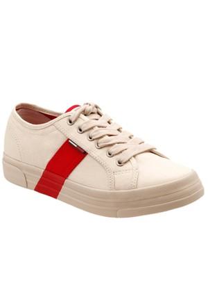 Tommy Hilfiger Lyon 1D Beyaz Kırmızı Kadın Sneaker