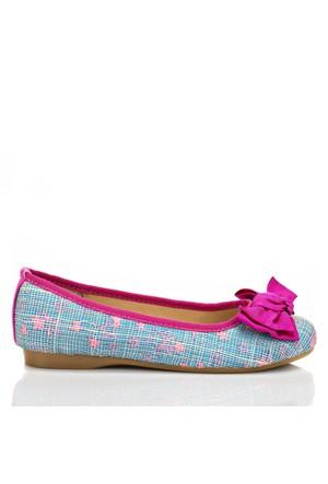Pink Step Grace Mor Kız Çocuk Babet