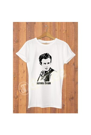 Dyetee James Dean Cool Erkek T-Shirt