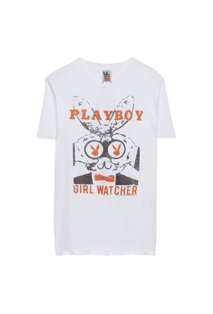 Junk Food Playboy Girl Watcher T-Shirt