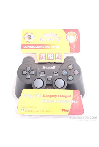 Kontorland PS3/PC (X-input/D-input) Analog Gamepad