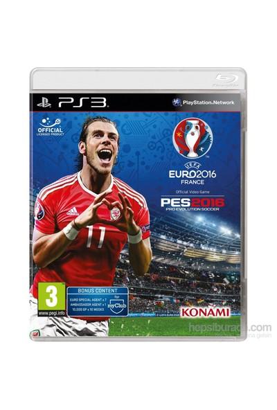 Konami Pes 2016 (Euro 2016) Ps3 Oyun (Türkçe Menü)