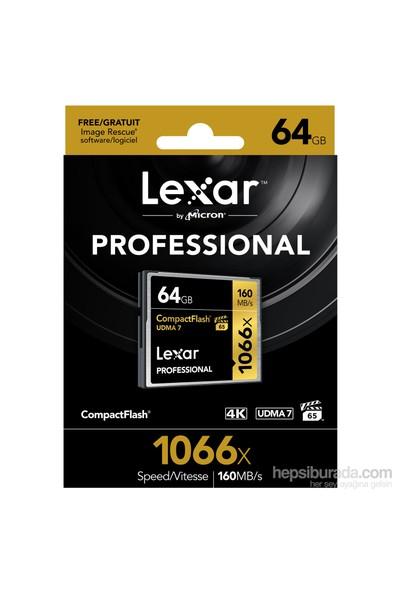 Lexar 64Gb 1066X Professional Cf - 160 Mb/Sn.Compackt Flash Hafıza Kartı