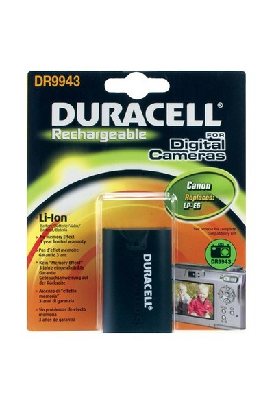 Duracell DR9943 Canon LP-E6 Dijital Kamera Pili