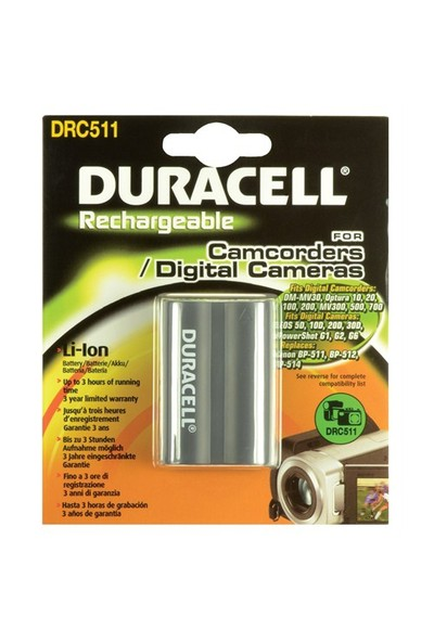 Duracell DRC511 Canon BP-511 Dijital Kamera Pili
