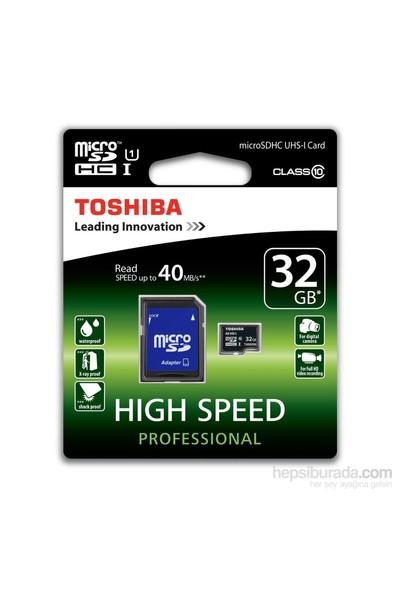 Toshiba 32Gb Micro Sdhc Uhs-1 C10 40Mb/Sn