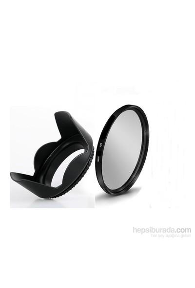Beta Canon 18-55Mm Lens İçin Uv Filtre + Yaprak Parasoley