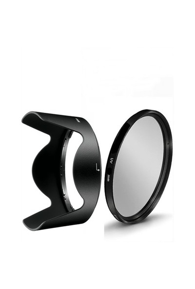 Beta Nikon 18-105Mm Ve 18-140Mm Lens Ler İçin Uv Filtre + Hb-32 Parasoley