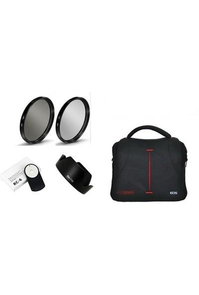 Beta Canon 18-135Mm Lens İçin Kare Çanta Lı 5 Li Filtre Ve Aksesuar Seti
