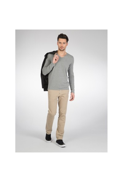 Colin's Gri Erkek Tshirt Uzun Kol