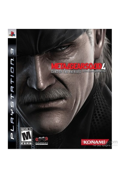 Metal Gear Solid 4 Guns Of The Patriots Ps3 Oyunu