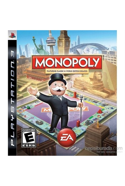 Monopoly Featuring Classic World Edition Boards Ps3 Oyunu