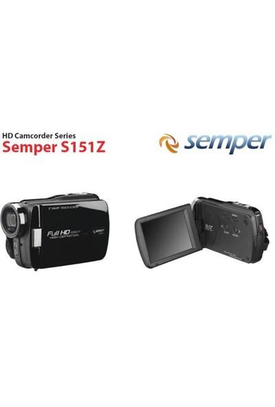 """Semper S151Z 3"""" LCD Full HD Video Kamera (4GB Toshiba SD Kart ve HDMI Kablo Hediyeli)"""