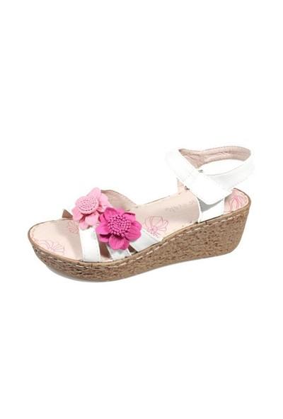 Pink Step Larisa Beyaz Kız Çocuk Ayakkabı