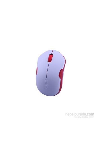 Classone Mila Kablosuz Beyaz/Kırmızı Mouse (ML370)