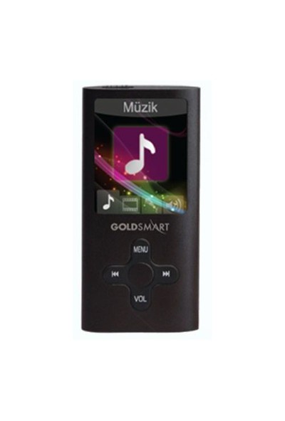 "Goldmaster MP4-224 1.8"" 8GB Siyah Mp3/Mp4 Player"