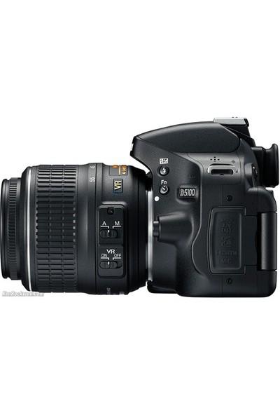 """Nikon D5100 18-55 VR 16.2MP 3"""" LCD Dijital SLR Fotoğraf Makinesi"""