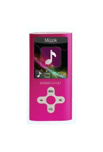 "Goldmaster MP4-224 4GB + 1.8"" Ekran + Ses Kayıt Mp3/Mp4 Çalar"