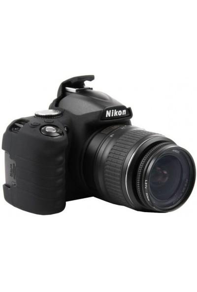 EasyCover Nikon D3100 Silikon Kılıf ECND3100 ( Siyah )