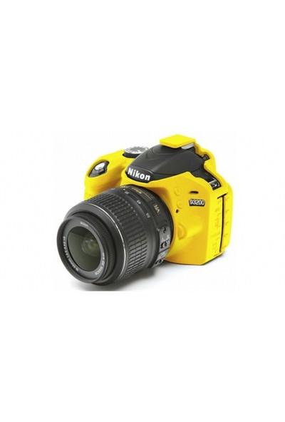 EasyCover Nikon D3200 Silikon Kılıf ECND3200Y(Sarı)