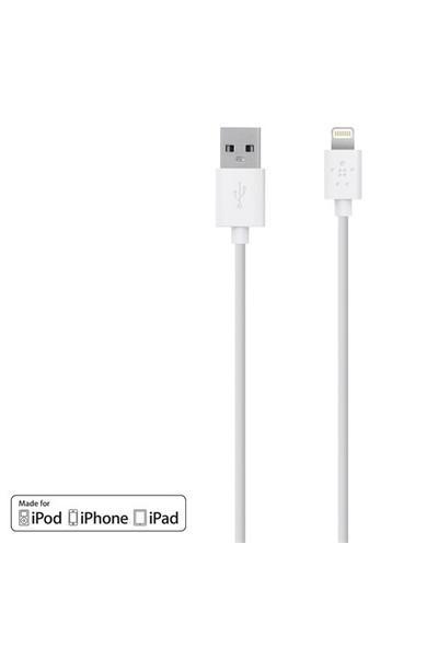 Belkin iPad Uyumlu 8-PIN Beyaz SYNC & Şarj Kablosu (F8J023bt04-WHT)