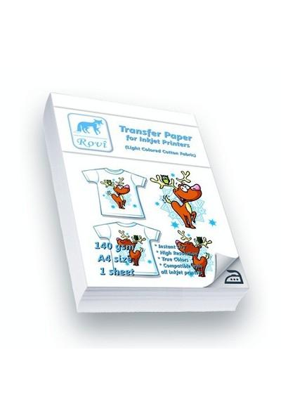 Rovi Açık Renk Pamuklu Kumaşlar İçin Transfer Kağıdı - 1Yp - A4