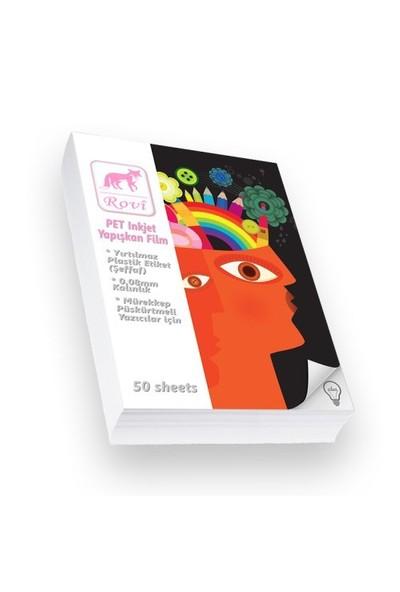 Rovi Fine-Art Şeffaf Film Etiket (Pet) - 0,08Mm - 50Yp - A3